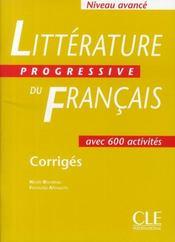Litterature progressive du francais corriges - Intérieur - Format classique