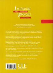 Litterature progressive du francais corriges - 4ème de couverture - Format classique