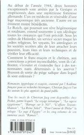 Le moine et le vénérable - 4ème de couverture - Format classique
