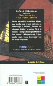 Cinq Suspects Sous Surveillance - 4ème de couverture - Format classique