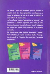 Le Succes En Algebre En Fiches-Methodes Prepas Licence 2e Annee - 4ème de couverture - Format classique