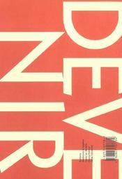 Devenir T.4 ; Vol - 4ème de couverture - Format classique