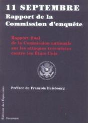 11 septembre ; rapport de la commission d'enquête - Couverture - Format classique