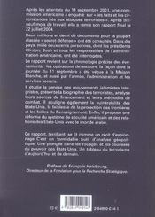 11 septembre ; rapport de la commission d'enquête - 4ème de couverture - Format classique