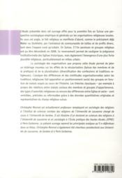 Croire ensemble ; analyse institutionnelle du paysage religieux en Suisse - 4ème de couverture - Format classique