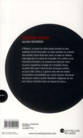 Cadaver Sancti - 4ème de couverture - Format classique