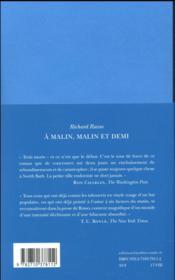 À malin, malin et demi - 4ème de couverture - Format classique