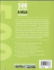 500 balades à velo en France (édition 2017) - 4ème de couverture - Format classique