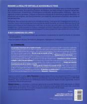 La réalité virtuelle démystifiée ; principe, interfaces, applications, perspectives - 4ème de couverture - Format classique