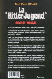 La Hitler Jugend - 1922-1945 - 4ème de couverture - Format classique
