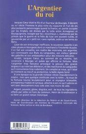 L'argentier du roi - 4ème de couverture - Format classique
