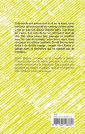Le blues du tram - 4ème de couverture - Format classique