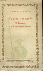 Teatro Escogido : El Infamador, Los Siete Infantes De Lara - Couverture - Format classique