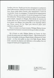 Allegra - 4ème de couverture - Format classique