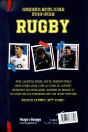 Agenda scolaire ; rugby - 4ème de couverture - Format classique