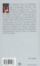 Le cycle d'Elric t.4 ; Elric le nécromancien - 4ème de couverture - Format classique