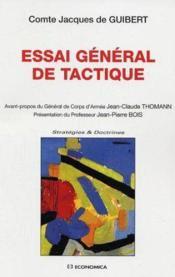 Essai General De Tactique - Couverture - Format classique
