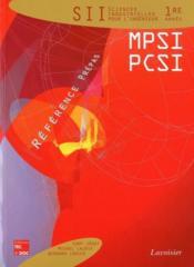 Sciences industrielles pour l'ingénieur ; 1ère année mpsi pcsi - Couverture - Format classique