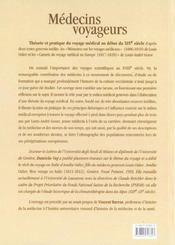 Medecins voyageurs. theorie et pratique du voyage medical au debut du xixe siecle - 4ème de couverture - Format classique