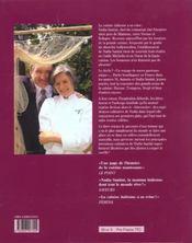 La grande cuisine italienne de antonio et nadia santini - 4ème de couverture - Format classique