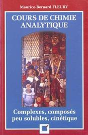 Cours De Chimie Analytique - Intérieur - Format classique