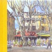 Carnet d'adresses provençal - Intérieur - Format classique