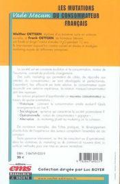 Les mutations du consommateur francais comment s'y adapter ? vade-mecum - 4ème de couverture - Format classique