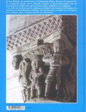 L'art roman en auvergne, un autre regard - 4ème de couverture - Format classique
