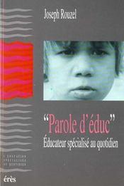 Parole D'Educateur Specialise Au Quotidien - Intérieur - Format classique