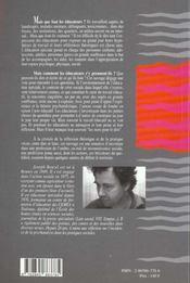 Parole D'Educateur Specialise Au Quotidien - 4ème de couverture - Format classique