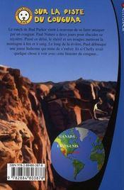 Sur la piste du cougar ; sauvez les animaux avec Paul Nature t.5 - 4ème de couverture - Format classique