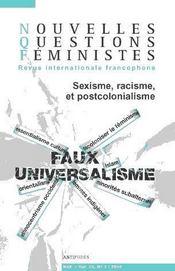 REVUE NOUVELLES QUESTIONS FEMINISTES N.25/3 ; sexisme, racisme et postcolonialisme - Intérieur - Format classique