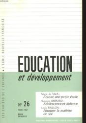 Education Et Developpement - N°26 - Couverture - Format classique