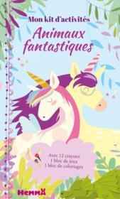 Mon kit d'activités ; animaux fantastiques ; licornes - Couverture - Format classique