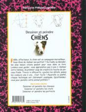 Dessiner et peindre les chiens - 4ème de couverture - Format classique