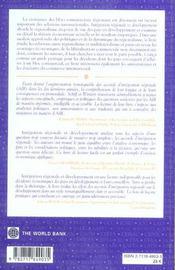 Integration Regionale Et Developpement - 4ème de couverture - Format classique