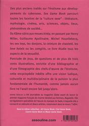 Sexgame book ; histoire culturelle de la sexualité - 4ème de couverture - Format classique