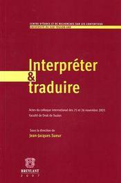 Interpréter et traduire - Intérieur - Format classique