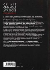 Chimie organique avancee volume 1 - 4ème de couverture - Format classique