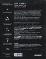Astronomie et astrophysique - 4ème de couverture - Format classique