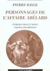 Personnages De L'Affaire Abelard - Intérieur - Format classique