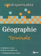 Geographie terminale l/es/s - Couverture - Format classique