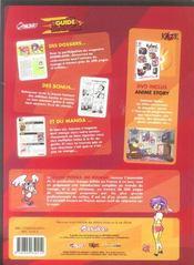 Guide phenix du manga - 4ème de couverture - Format classique