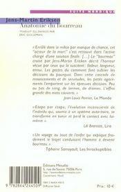 Anatomie du bourreau - 4ème de couverture - Format classique