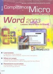 Competence Micro ; Word 2003 - Intérieur - Format classique