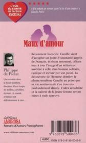Maux d'amour - 4ème de couverture - Format classique