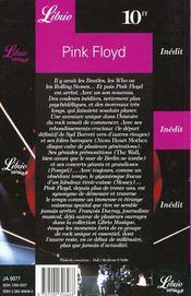 Pink floyd - 4ème de couverture - Format classique