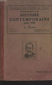 HISTOIRE CONTEMPORAINE APRES 1789. PROGRAMME D'AVRIL 1938. ENSEIGNEMENT PRIMAIRE SUPERIEUR 3e ANNEE. - Couverture - Format classique