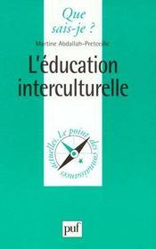 Education interculturelle (l') - Intérieur - Format classique
