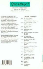 Education interculturelle (l') - 4ème de couverture - Format classique